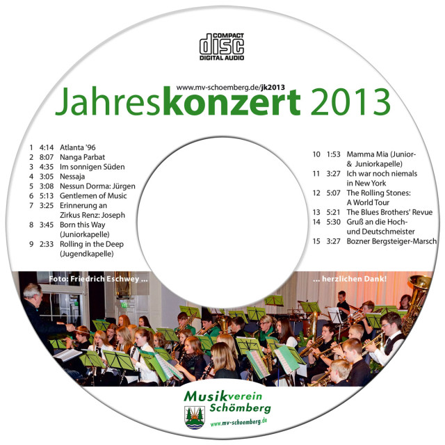 Label für Audio-CD
